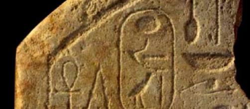Uno de los grabados con jeroglíficos egipcios