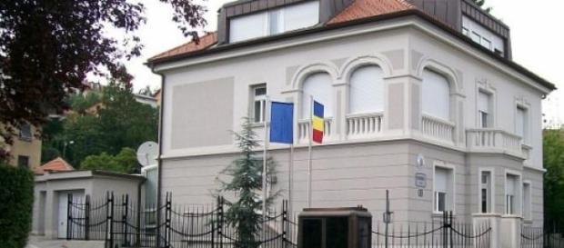 Die rumänische Bootschaft in Zagreb
