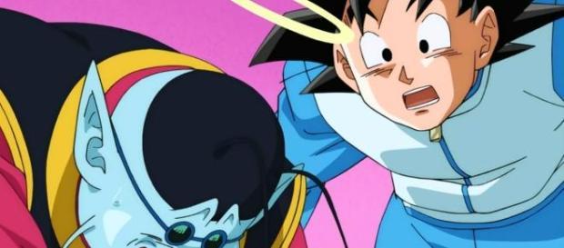 Goku en el planeta de Kaiosama