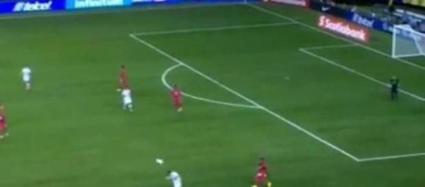 Kadr z meczu Panamy z Meksykiem