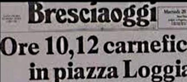 La notizia sul giornale dell'epoca