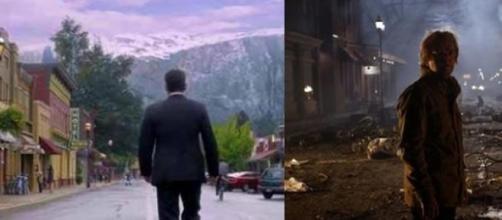 Antes y después en el pueblo de Idaho