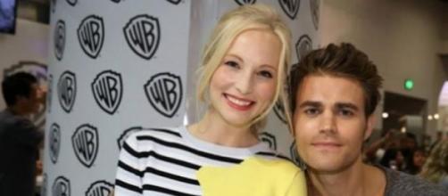 Candice Accola e Paul Wesley di Vampire Diaries