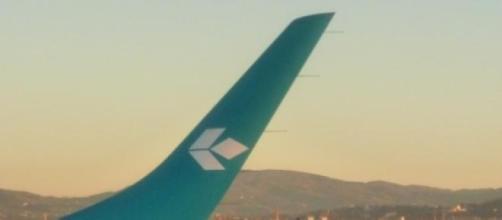 Aereo in atterraggio a Firenze