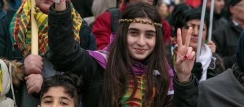 Manifestazione della comunità curda.