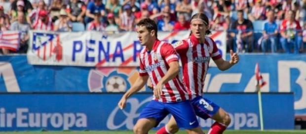 Filipe Luis en su anterior etapa en el Atlético