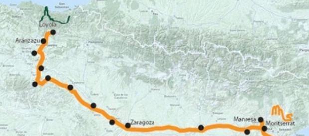 Camino Ignaciano hacia Manresa