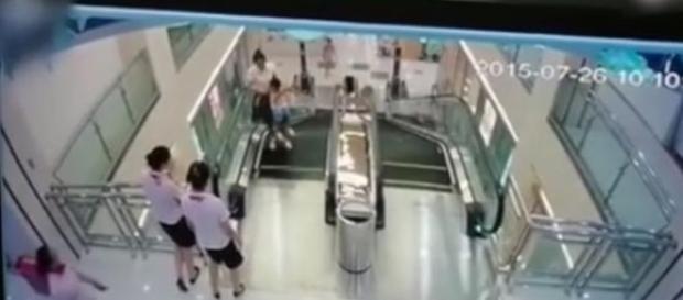 Foi esta escada rolante que fez uma vítima mortal