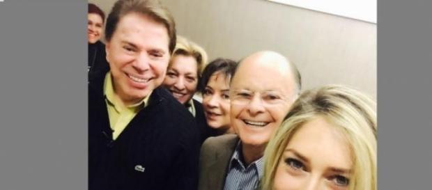 Silvio Santos tem encontro com Edir Macedo