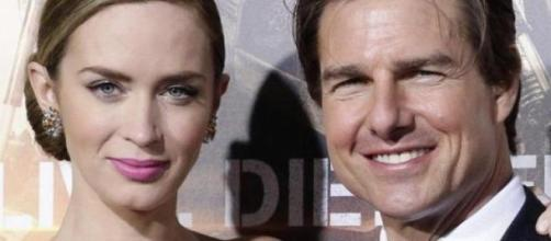 Insieme sul red carpet Emily Blunt e Tom Cruise