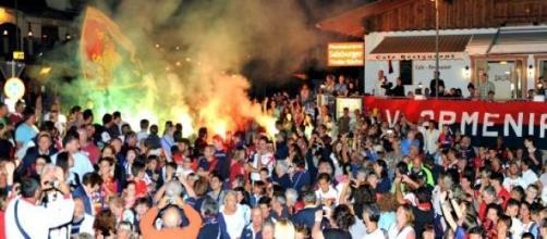 Tifosi del Genoa a Neustift