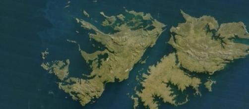 Vista aérea de las Islas Malvinas