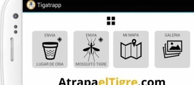 Interface de la aplicación Tigatrapp.