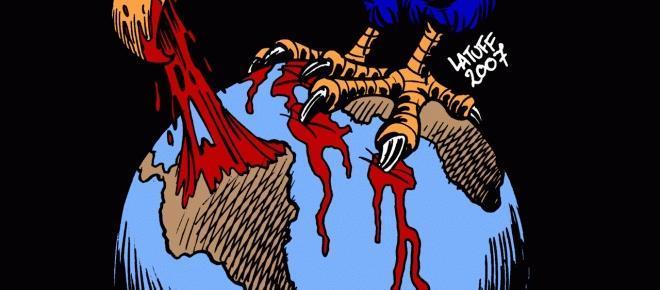 se trata de la politica militarista e intervencionista estadounidense sobre nuestros territorios que tiene como objetivo controlarnos y hacerse con nuestros recursos así como destruir los proyectos de soberania popular.