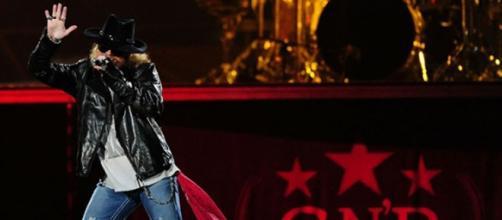 Axl Rose en su ultima gira en 2012