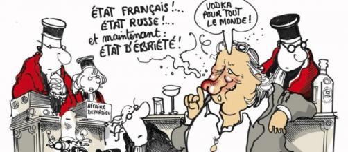 Depardieu ruso según Plantu, dibujante de Le Monde