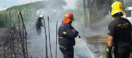 Vigili del fuoco, Incendio Fiumicino