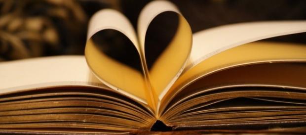Poza frumoasa cu dragostea de carte