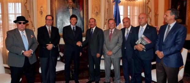 Sen. Enzo Cuomo e presidente della Rep. dominicana