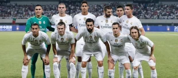 XI inicial del Real Madrid frente al Milan.