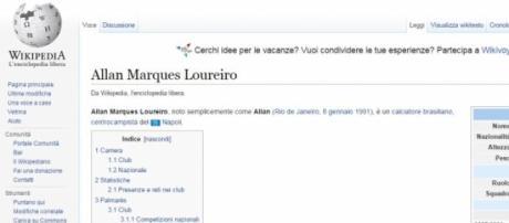 Per Wikipedia, Allan è gia del Napoli.