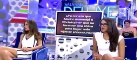 Suhaila y Lucia contra Nacho en Sálvame Deluxe