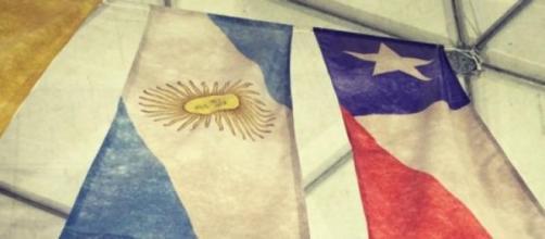 Banderas de Chile y Argentinan