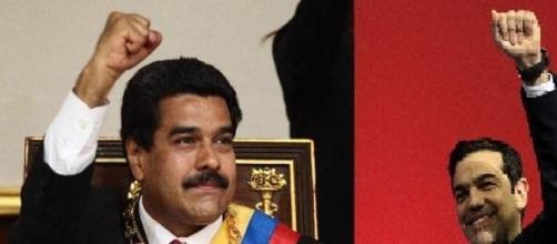 Il presidente Maduro e il premier ellenico Tsipras