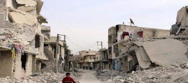 La città di Aleppo in Siria