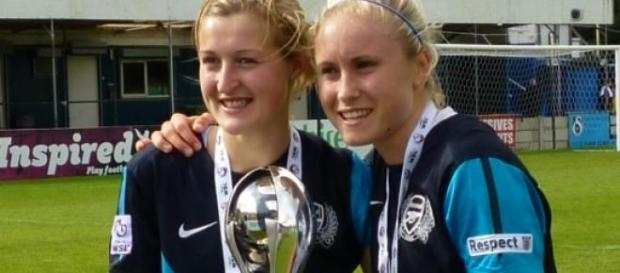 """Ellen White and Steph Houghton"" by Candlemasbear"