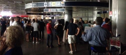 Blackout all'aeroporto di Fiumicino