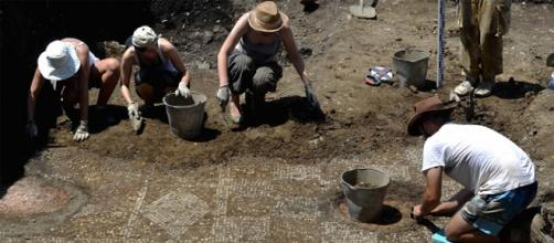 Mosaico de un baño militar romano en Georgia