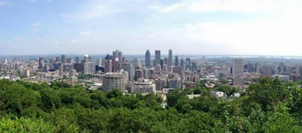 vista della città dal parco di Mont-royal