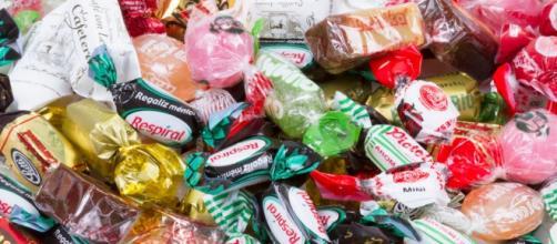 Droga envuelta en envoltorios de dulces