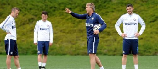 Roberto Mancini in allenamento