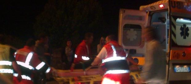 Micuţa a fost adusa la spitalul din Sarno