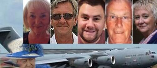 Bodies from attack return home