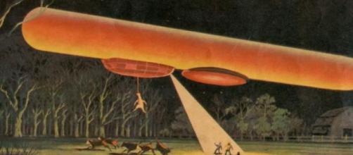 Sopra ipotetica interazione tra UFO e bestiame.