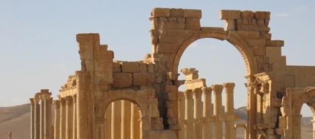 Starożytne ruiny - Palmyra.