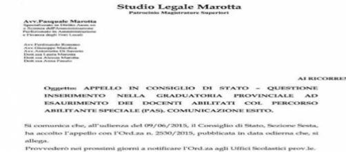 L'avviso dello Studio Legale Marotta