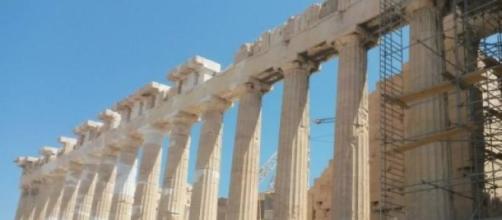 Metafórica imagen de la actual economía griega.