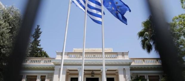 drapeau de la grece - union europeene