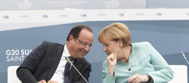 François Hollande e Angela Merkel