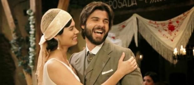 Maria e Martin il giorno delle nozze.