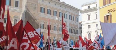 proteste per il Ddl scuola a piazza Montecitorio