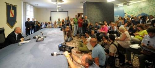 Conferenza stampa a Palazzo Santa Lucia