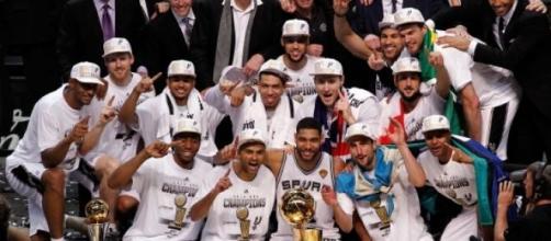 Les Spurs, champions NBA en 2014.