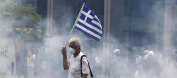 Un'immagine emblematica della crisi greca