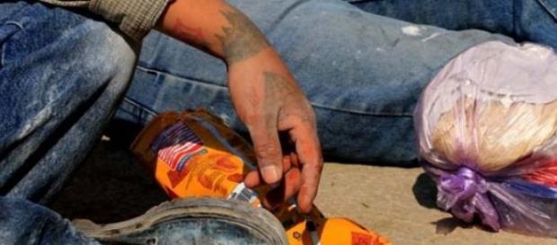 Un obrero en su descanso Foto: Quetzalli Blanco
