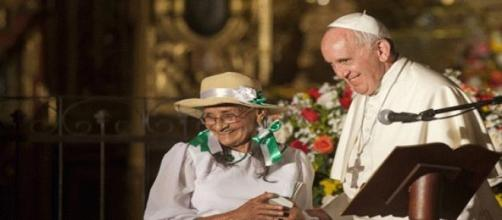 Francisco en su visita por Ecuador.